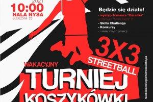 Wakacyjny Turniej Koszykówki Streetball 3X3